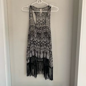 urban outfitters fringe tunic